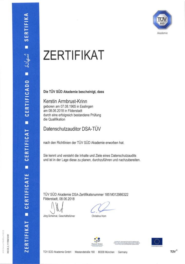 zertifikat_tuev_sued_datenschutzauditor